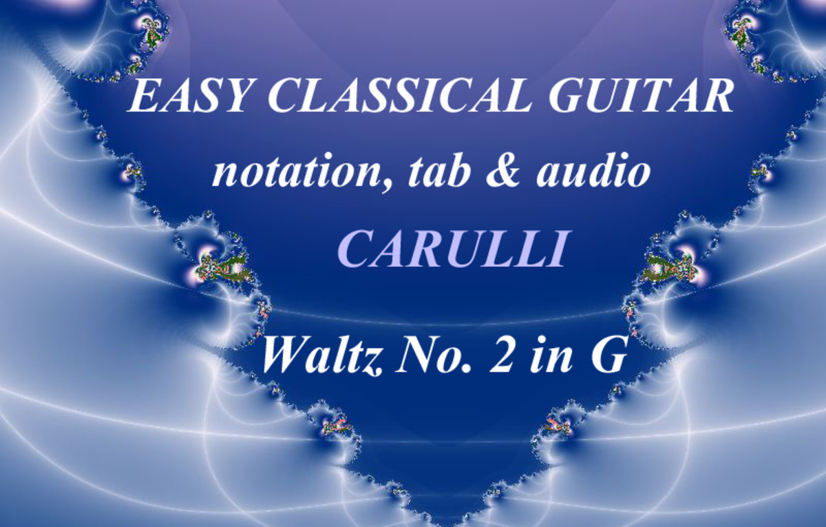 Easy Classical Guitar: Carulli - Waltz in G in Standard Notation and Guitar Tab with Audio
