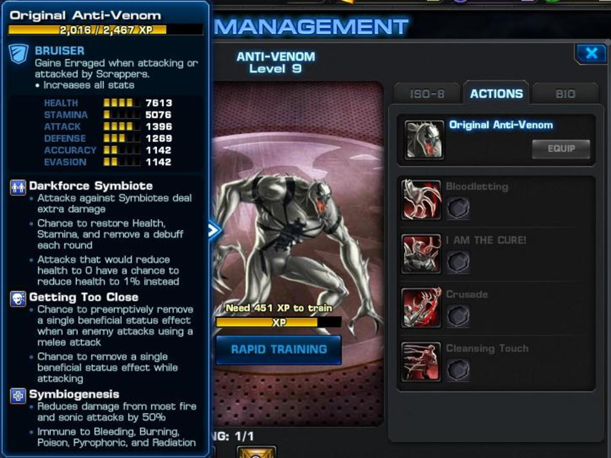 Strategy Guide for Anti-Venom in Marvel: Avengers Alliance