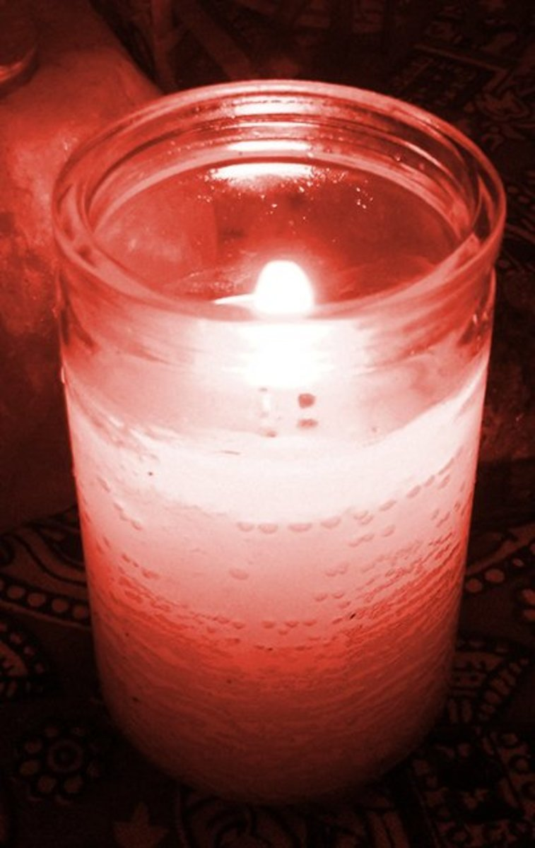 A pink spell candle for love and romance.
