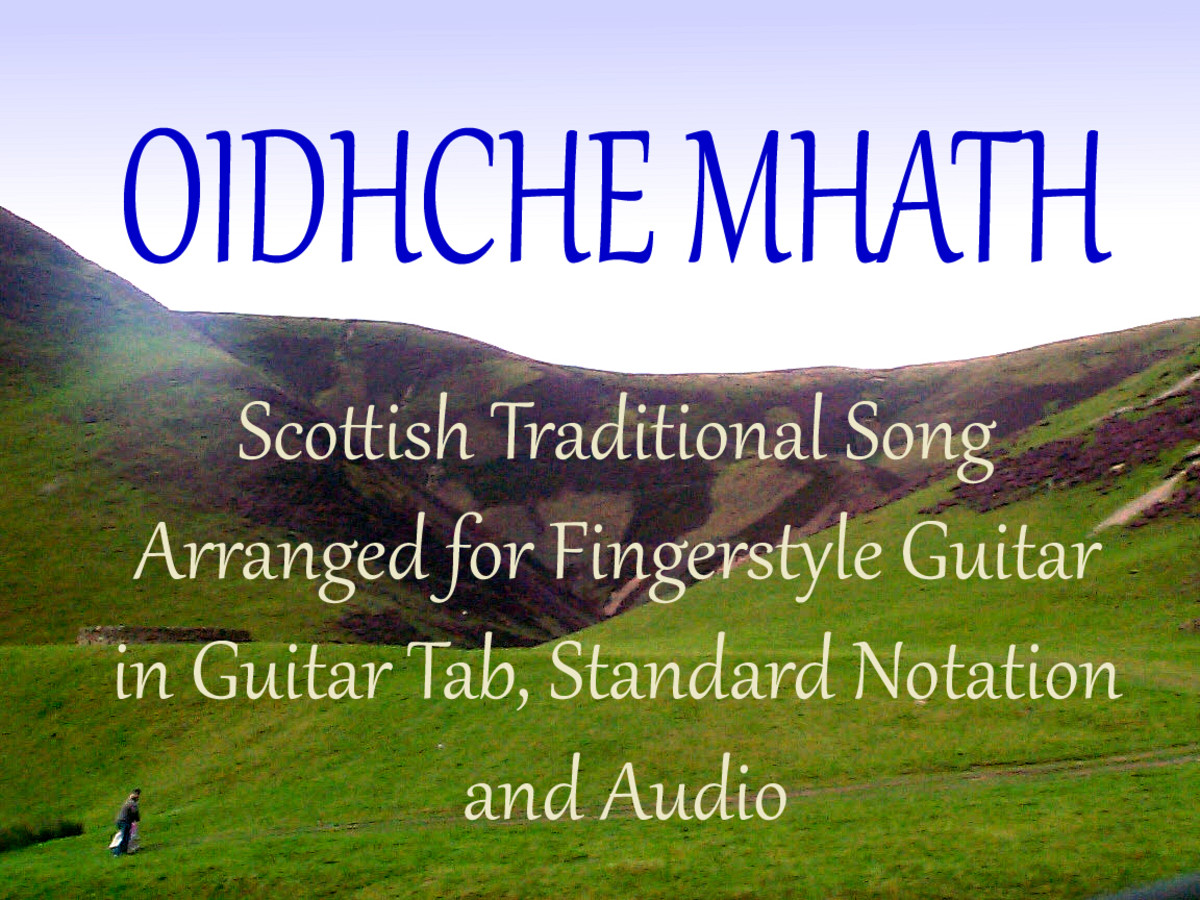 Oidhche Mhath: Celtic Fingerstyle Guitar Arrangement in Tab, Notation and Audio