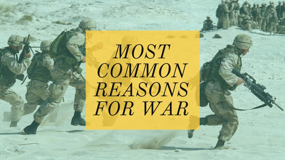 US troops on the move. Up until the late 19th century, wars were usually fought as a series of set piece battles. Modern technology and other trends, such as asymmetric warfare have changed how wars are fought. Read on for my 8 common causes for war.