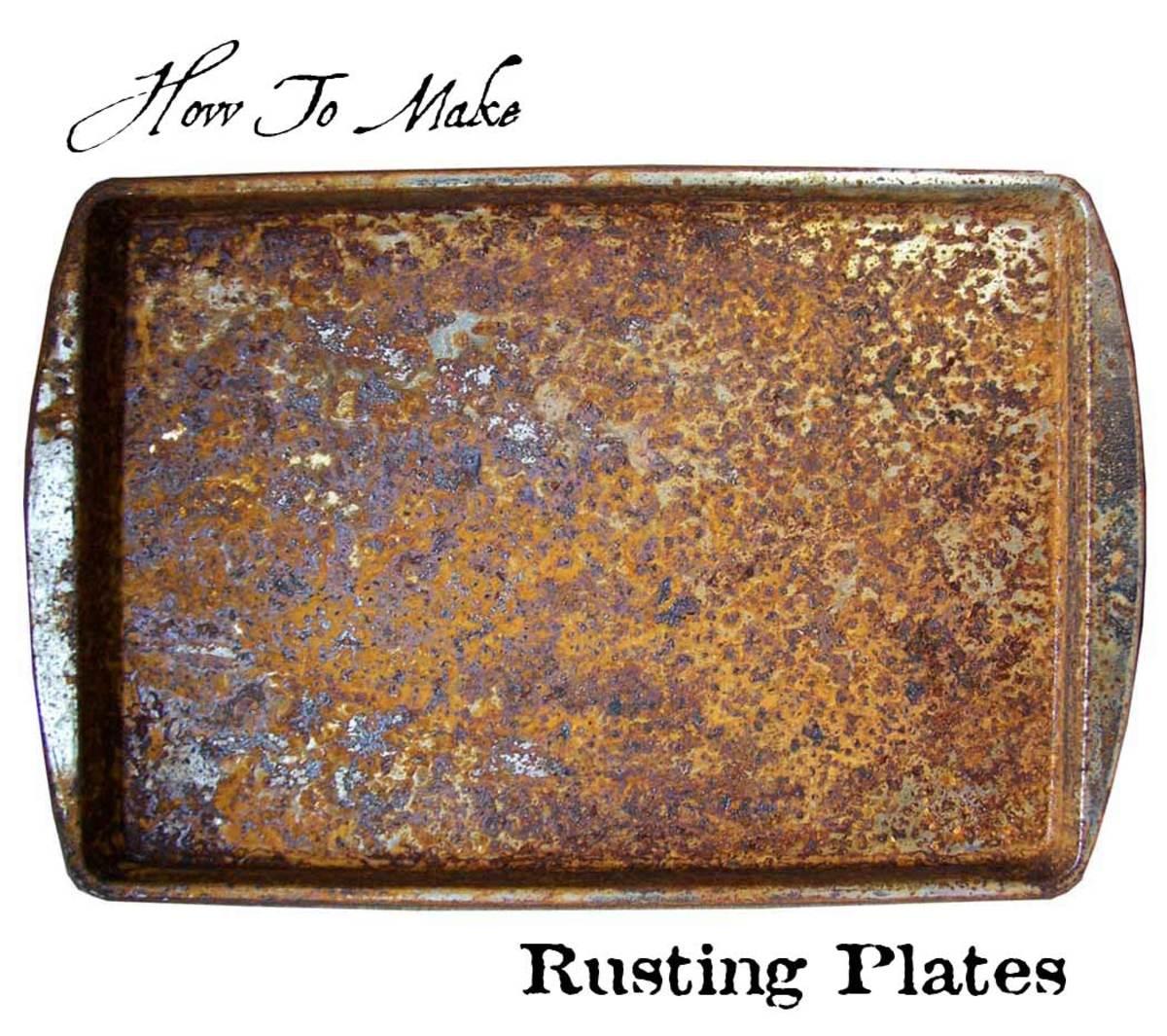 how to make rusting plates feltmagnet. Black Bedroom Furniture Sets. Home Design Ideas