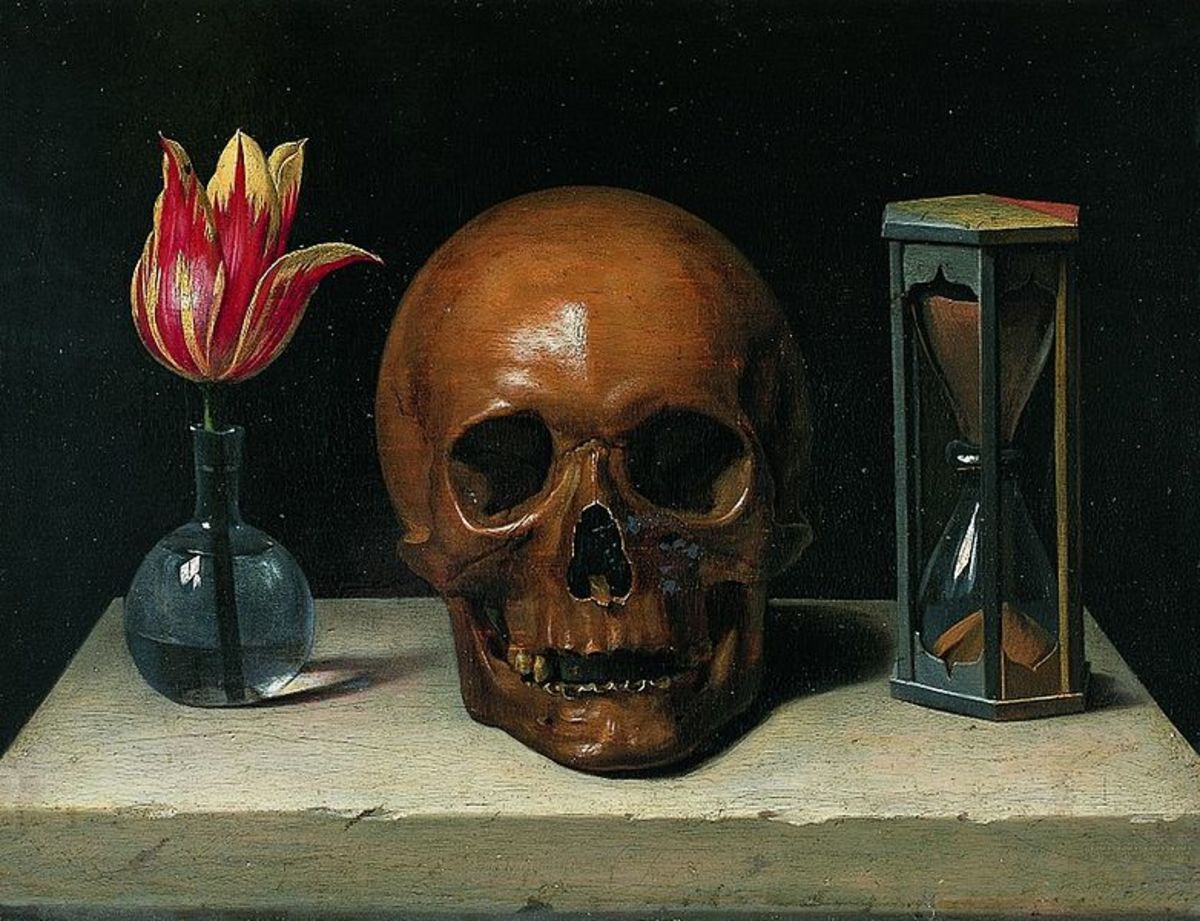 Still-Life with a Skull, Philippe de Champagne (1671)