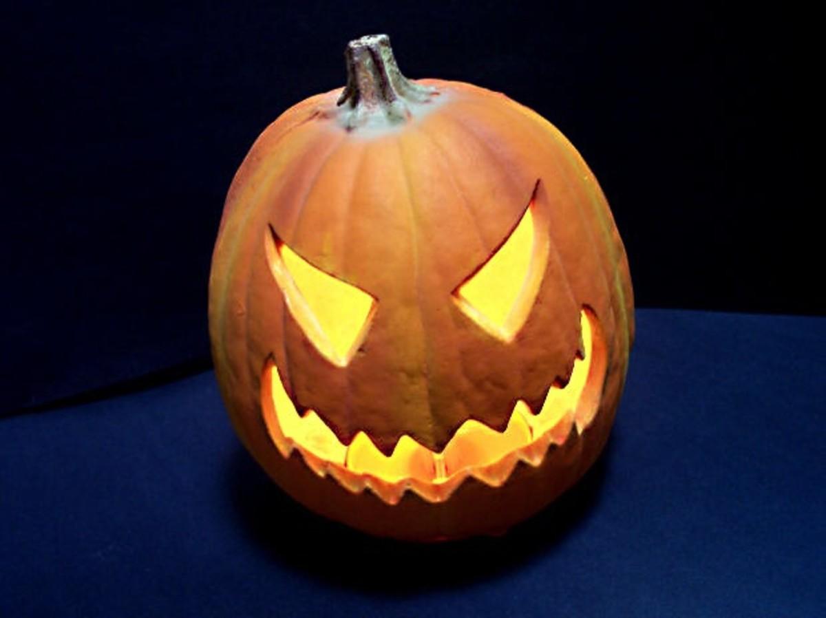 A Scary Halloween Jack o' Lantern