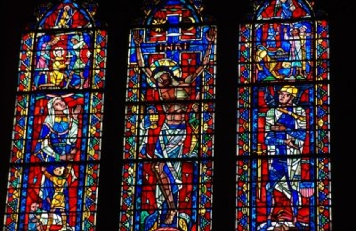 Beautiful stained glass windows are iconic symbols of a church building.