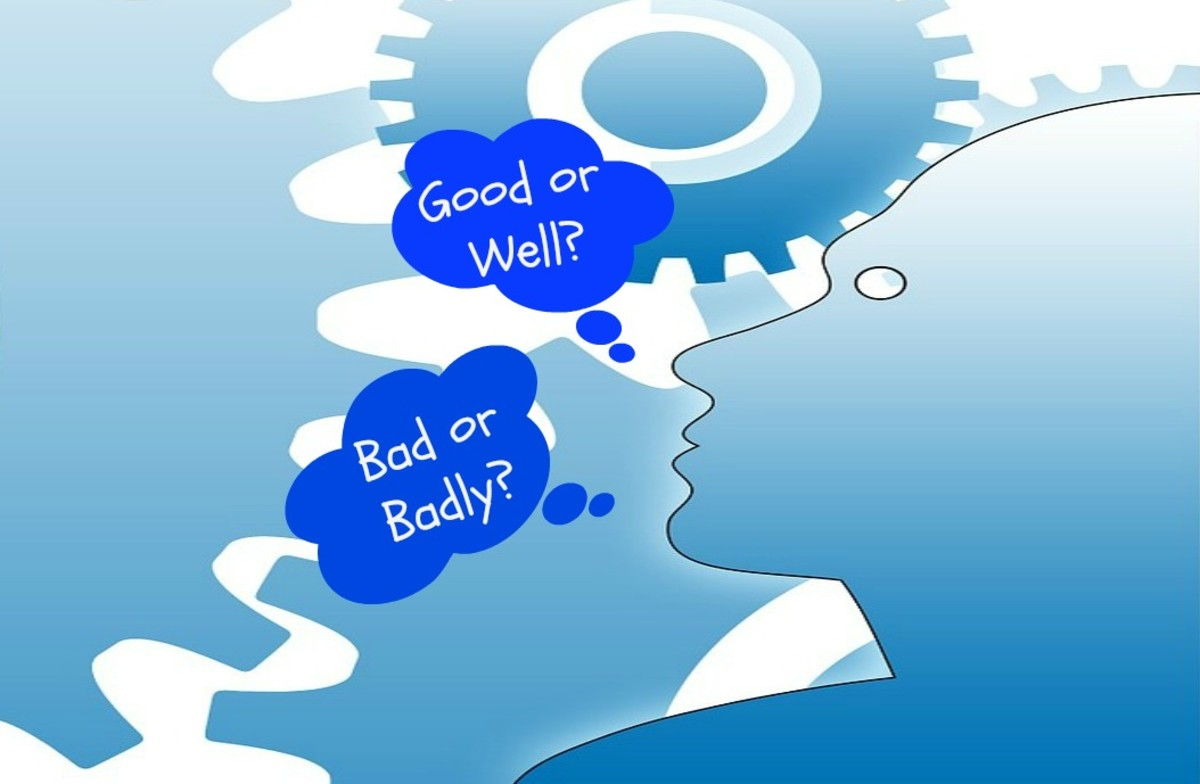 "There is a lot of confusion about when to use ""good"" and ""well"" and ""bad"" and ""badly."""