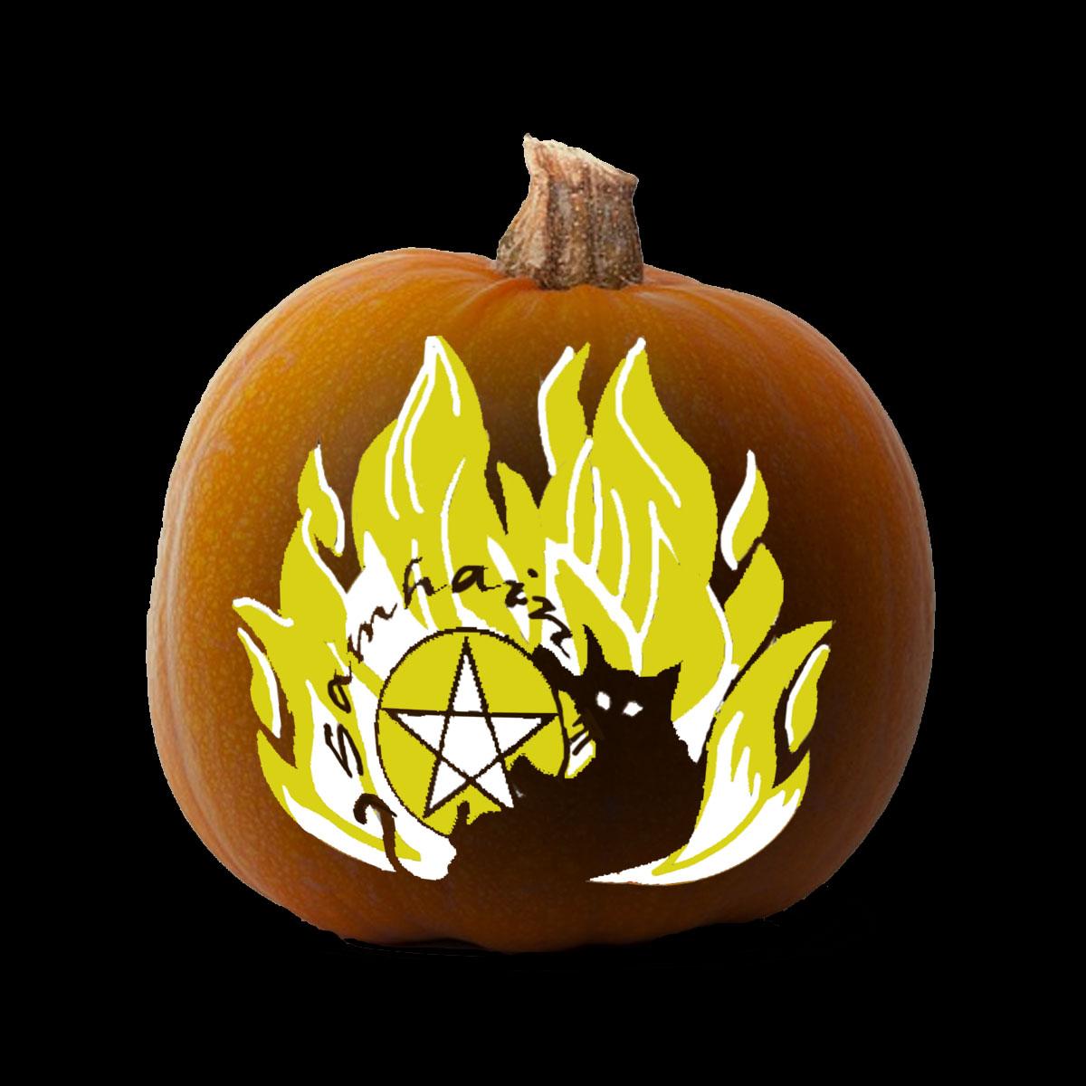 More Printable Pagan Pumpkin Carving Stencils for Samhain