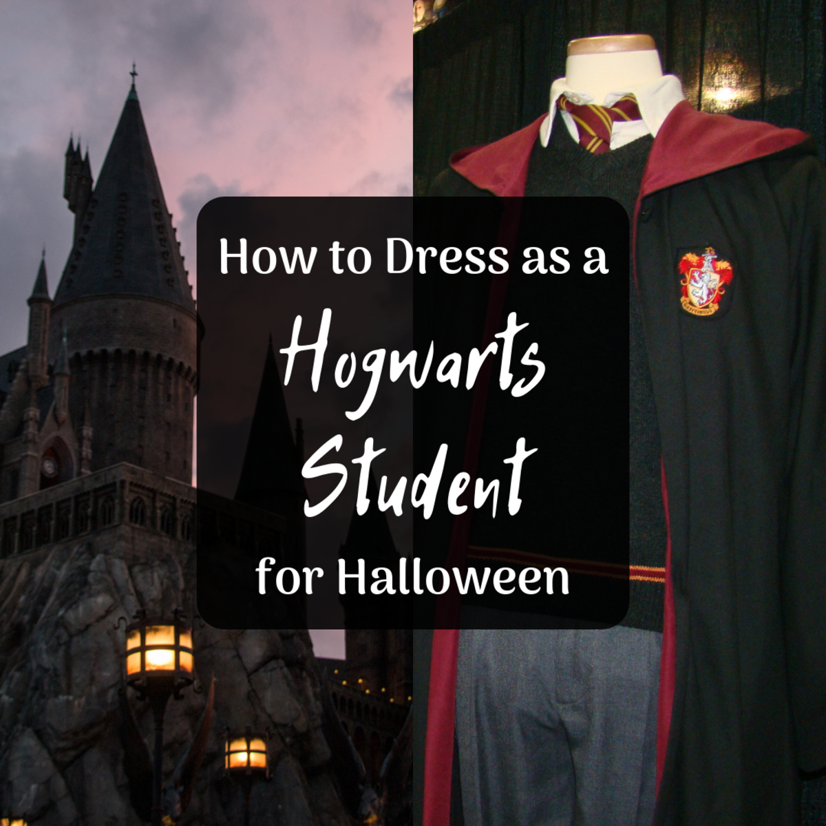 Get ideas for DIY Hogwarts student uniform costumes for women and men!