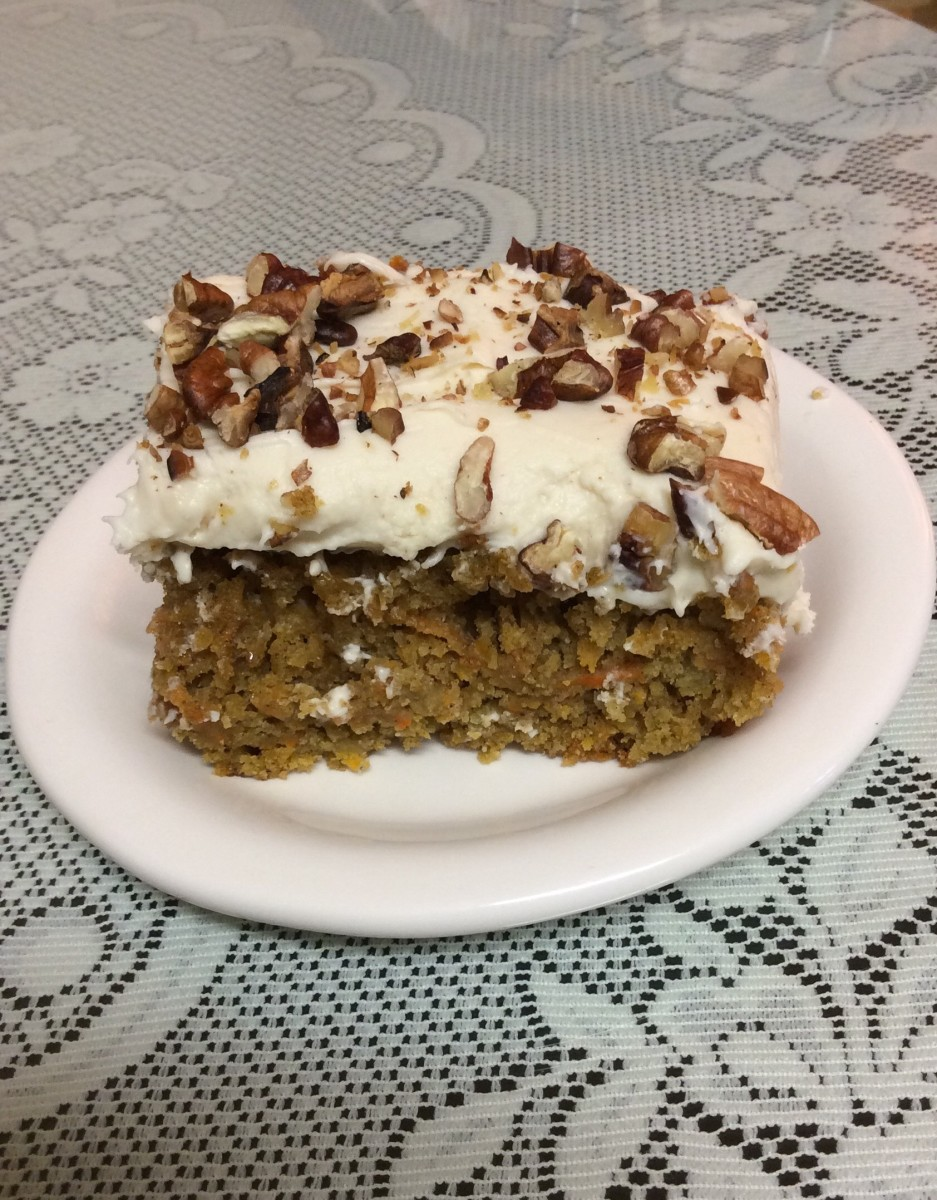 Cream Cheese Frosted Carrot Cake With Toasted Pecans
