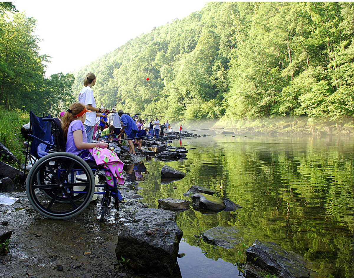 Person in wheelchair outdoors