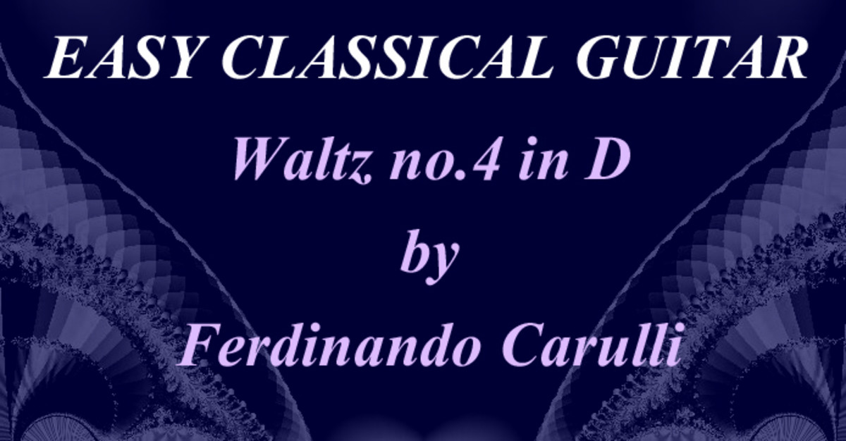 Carulli: Waltz no. 4 in D - Classical Guitar Piece in Tab, Notation and Audio