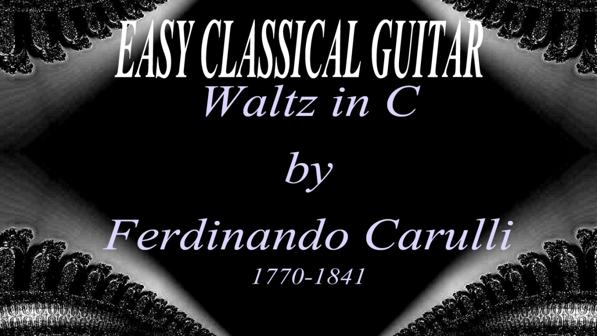 Classical guitar - Waltz in C by Carulli in tab, notation and audio