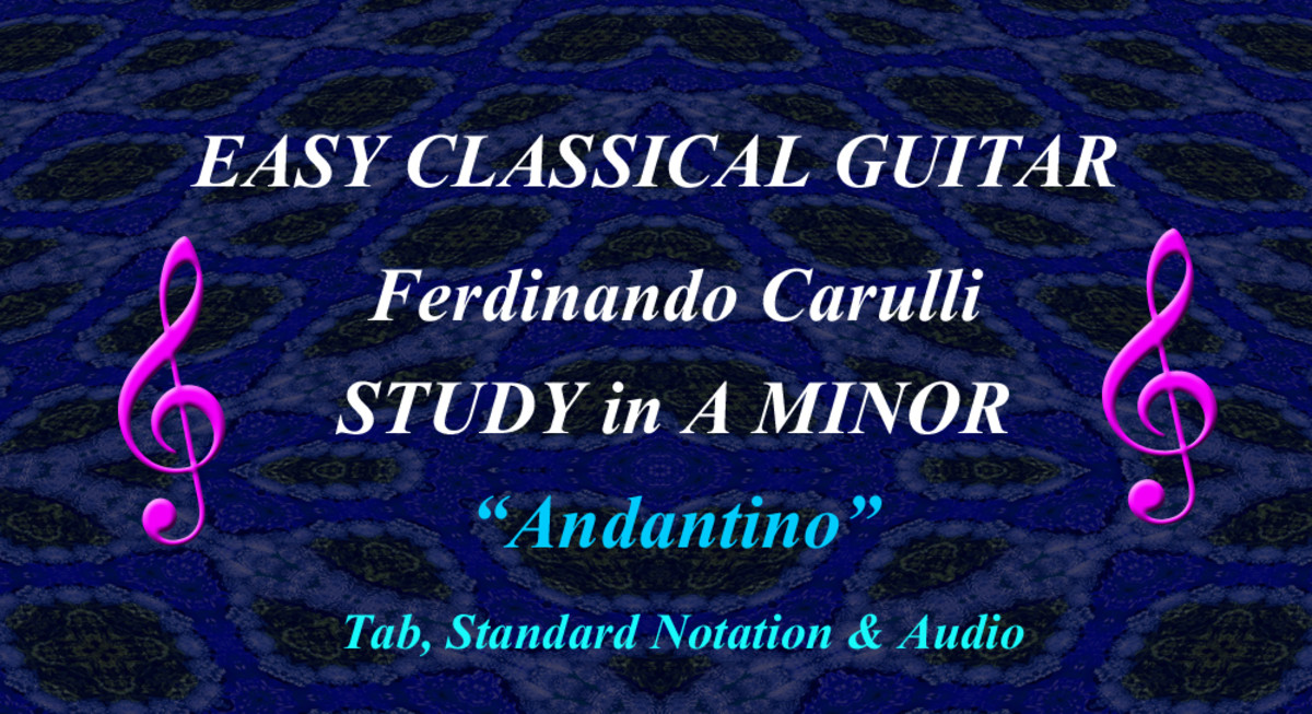 Easy Classical Guitar - Carulli's Andantino No.1 from Opus 241 (Study in A Minor)