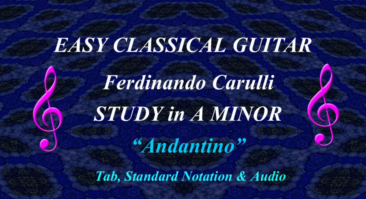 F. Carulli: Andantino no.1 Opus 241
