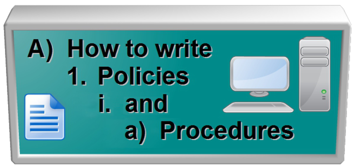 This is a guide on how to write policy and procedure for your workplace.