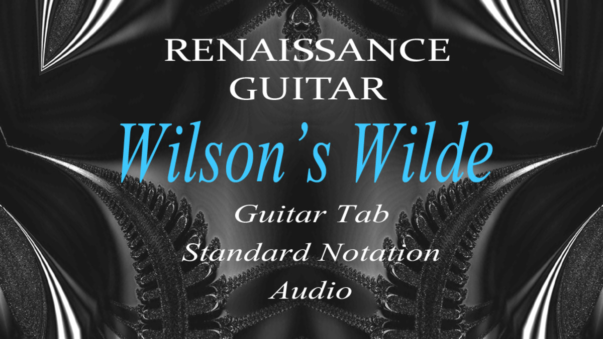 """Wilson's Wilde"": Easy Renaissance Fingerstyle Guitar in Tab, Standard Notation and Audio"