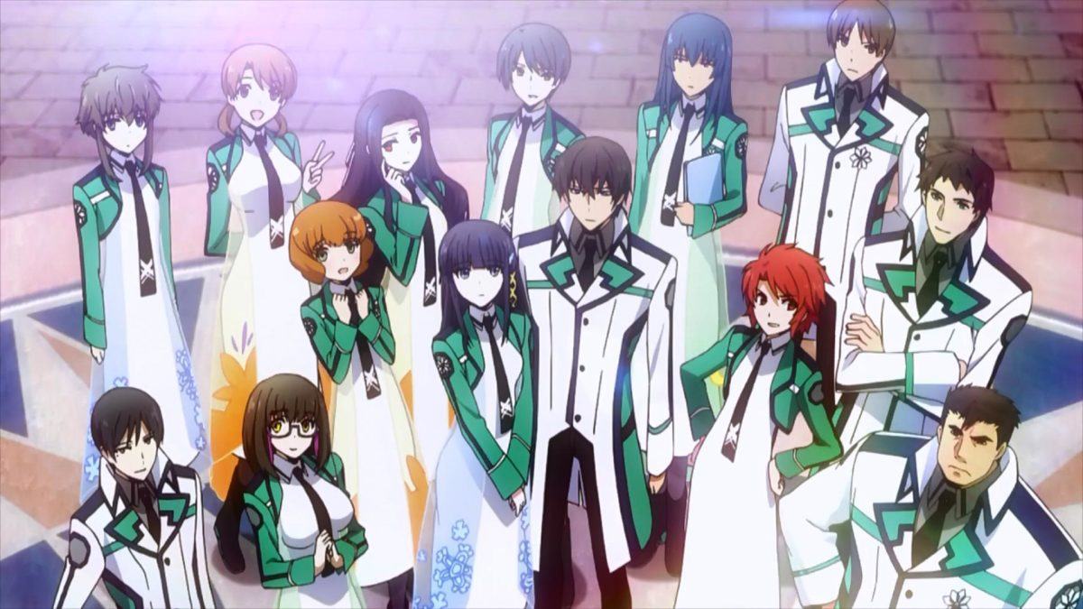 """The cast of characters in """"Mahouka Koukou no Rettousei."""""""