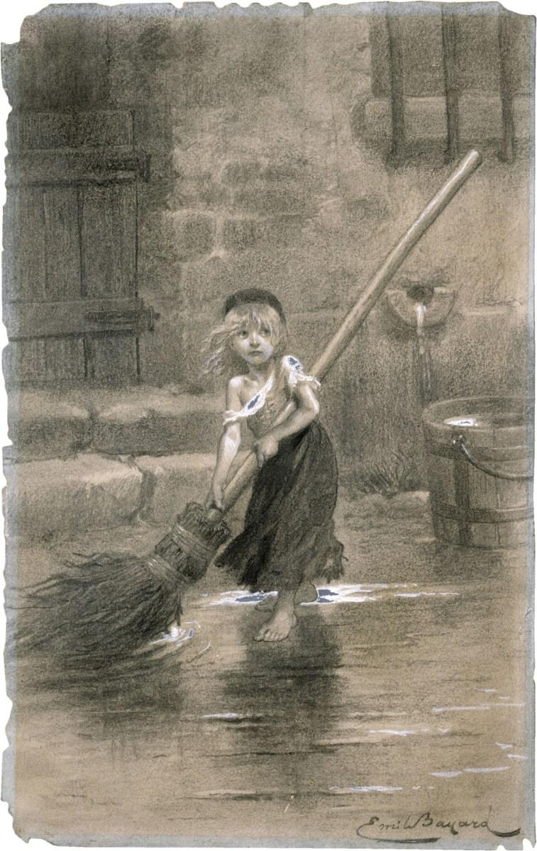Emile Baynard's famous illustration of little Cosette.