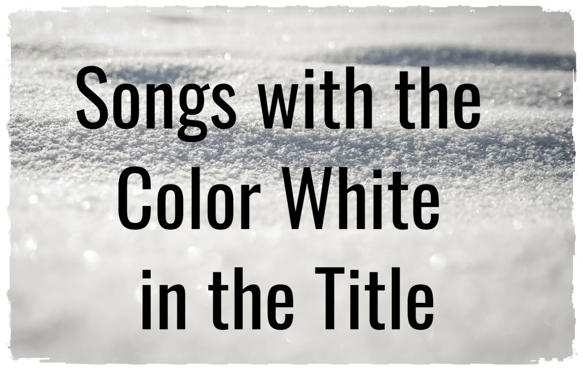 Celebrate the beauty of the color white with a playlist of pop, rock, and country songs about a color typically associated with purity, innocence, perfection, sterility, and faith.