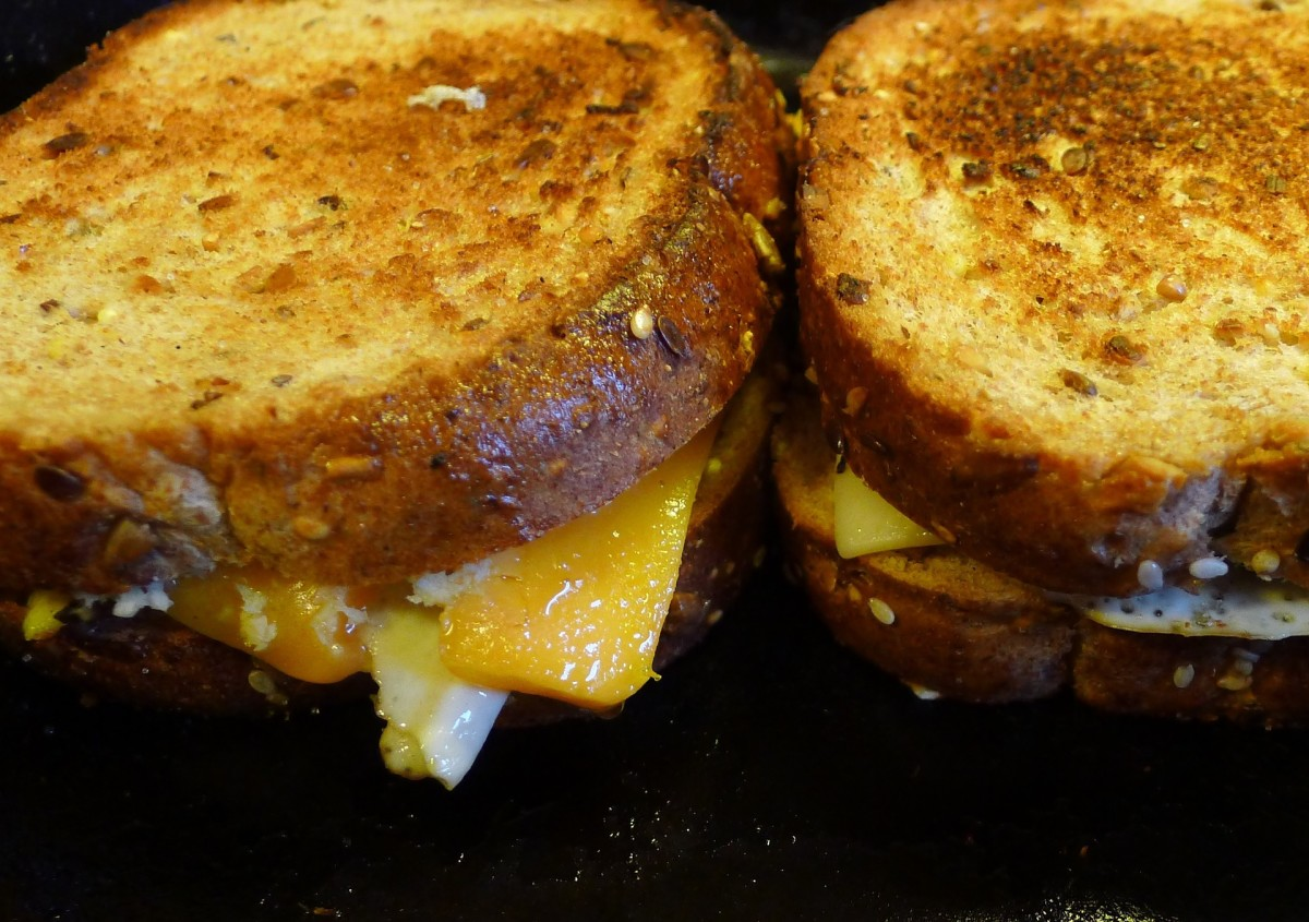 A delicious, decadent, comforting grilled cheese sandwich