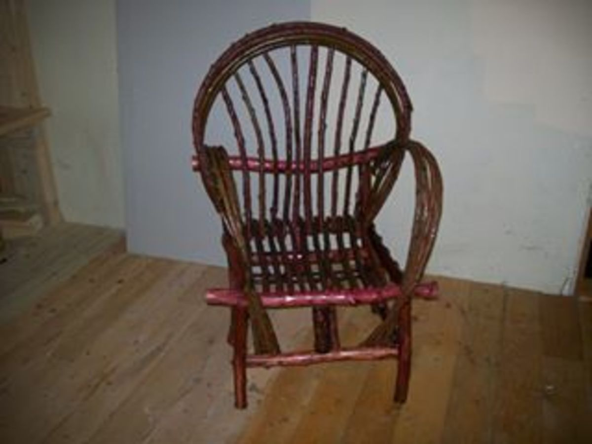 Finished Bent-Willow Chair