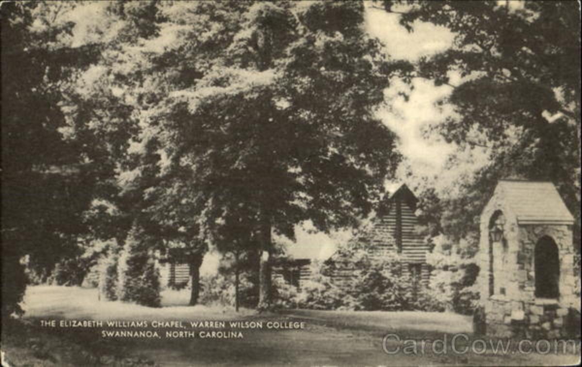 An old photo of Warren Wilson College