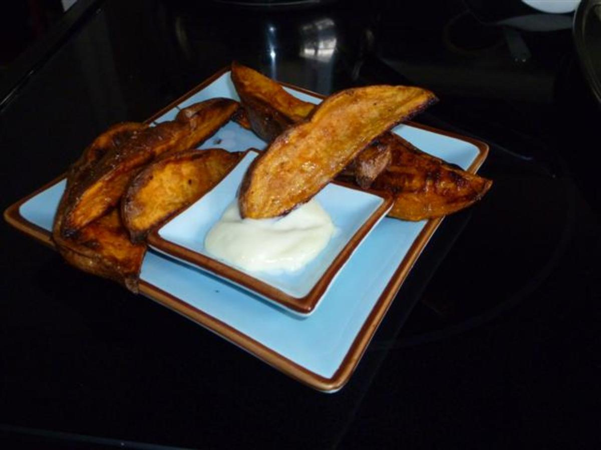 Sweet Potato Wedges with Truffle Aioli