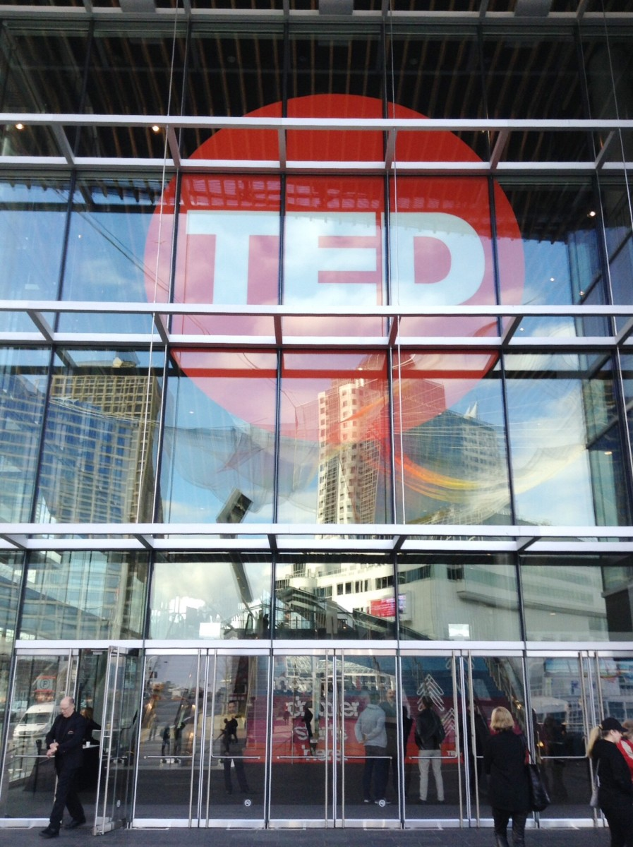 The TED conference is held in the Vancouver Convention Centre at Canada Place.