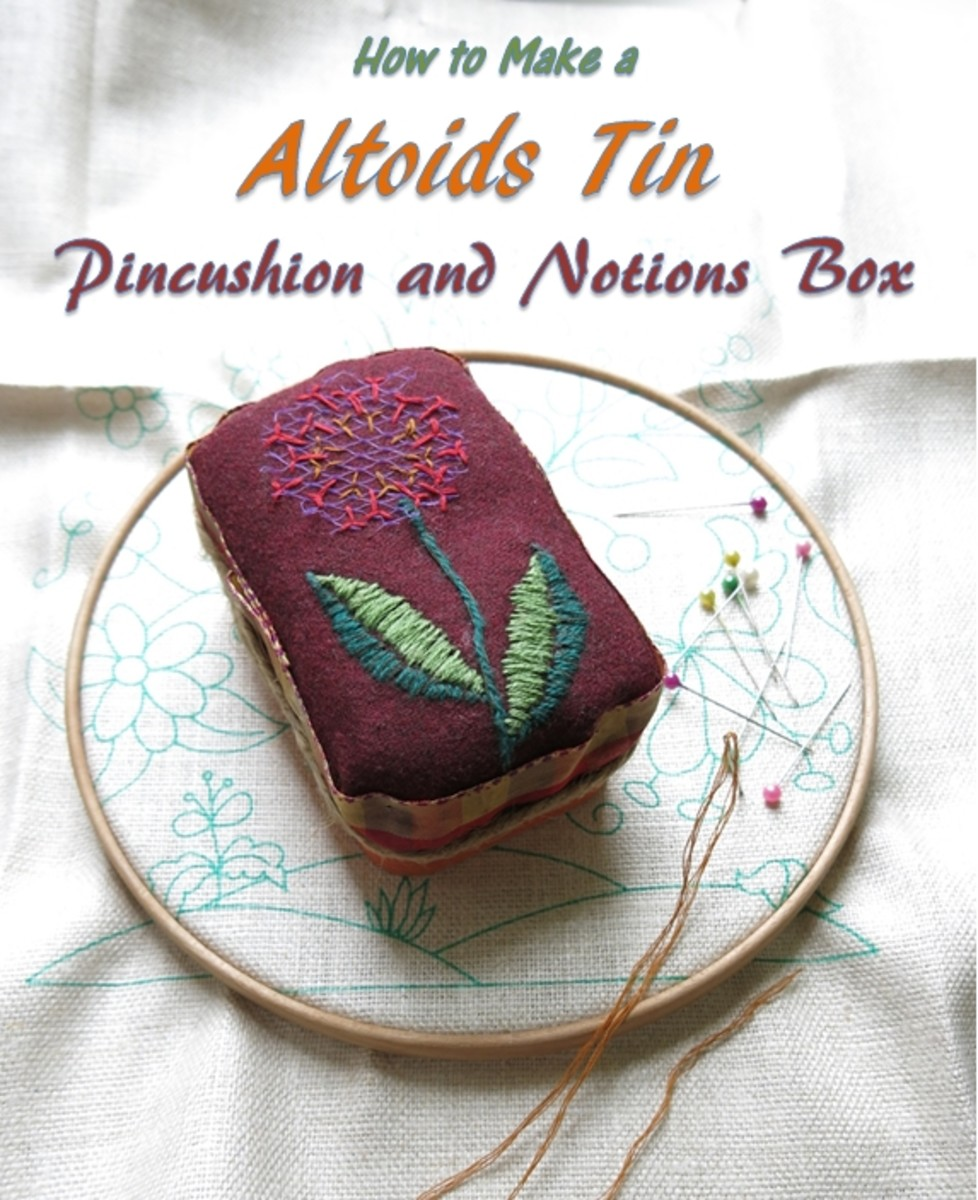 DIY Craft Tutorial:  How to Make an Altoids Tin Pincushion and Notions Box