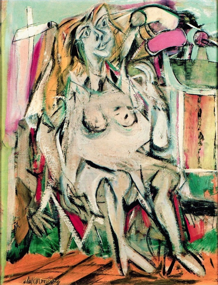 "Painting from de Kooning's ""Women"" series"