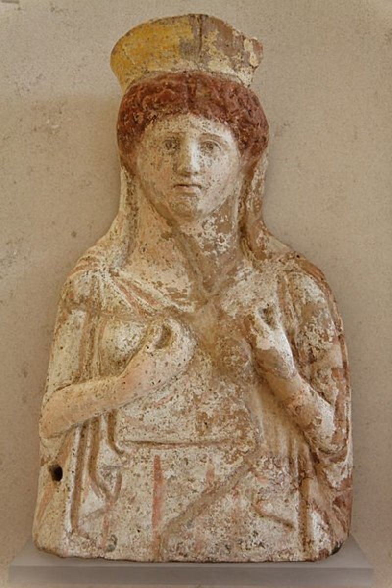 Relief of the Goddess Demeter, 4th century BCE, probably from Tanagra.