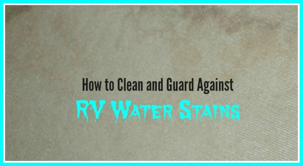 Water stains that appear on RV ceilings and drapes are ugly and difficult to eliminate.