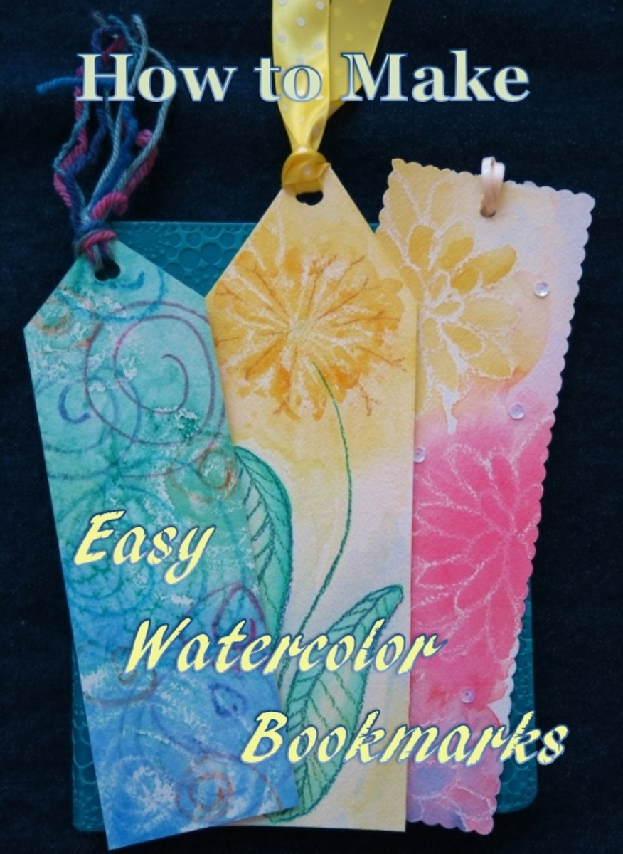 Beautiful bookmarks are easy to make using these simple watercolor painting techniques!