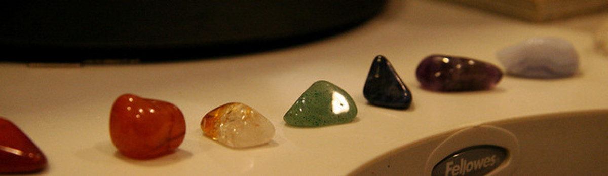 A set of chakra stones for whole body balancing and healing.