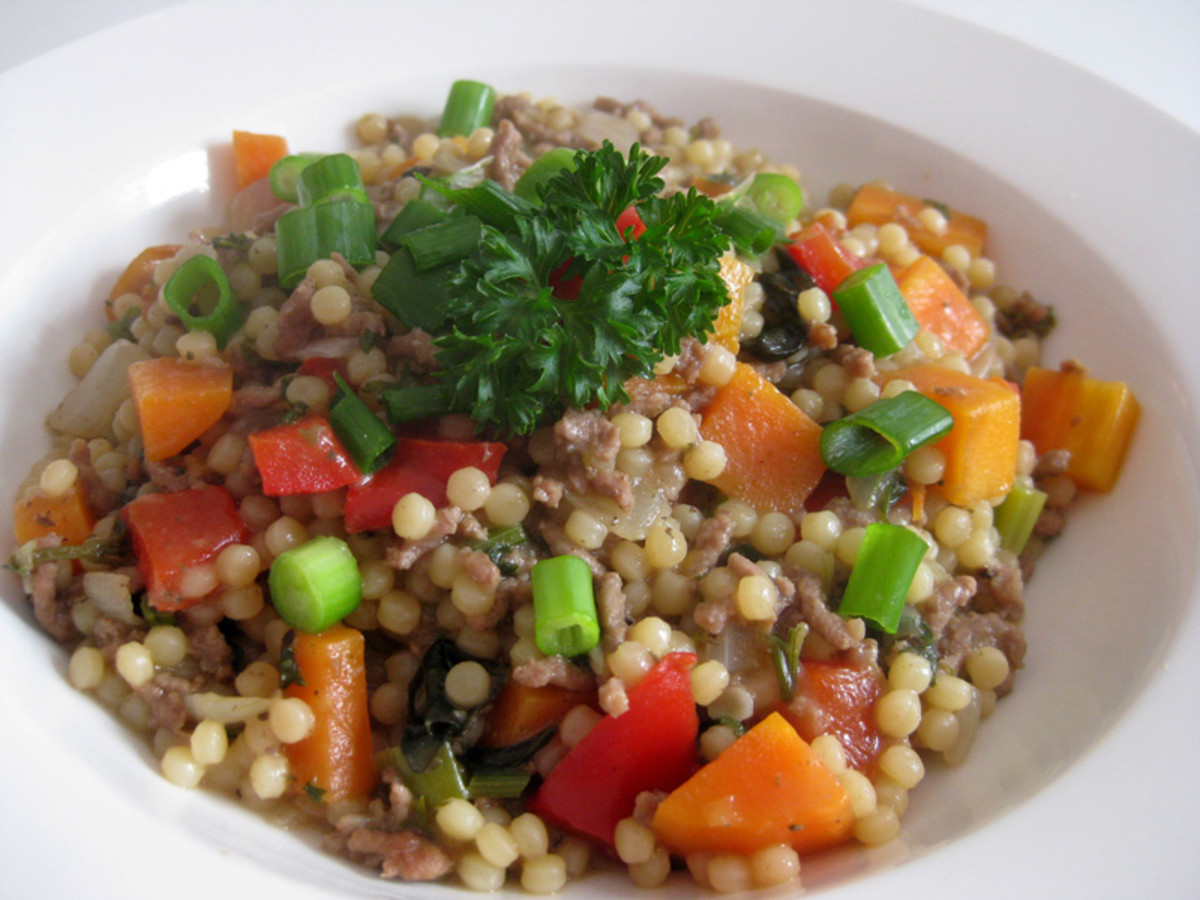 It tastes delicous and looks colourful - a serving of Italian couscous can be as cheap as AU70c per meal, depending on which ingredients you use and where you buy them.