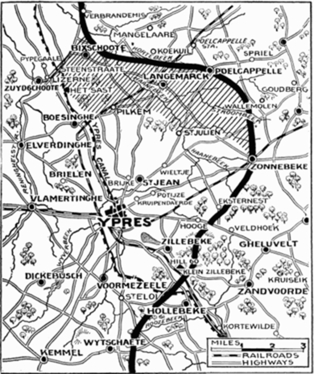 WW1 Battles—Second Battle of Ypres April 22nd-May 25th, 1915