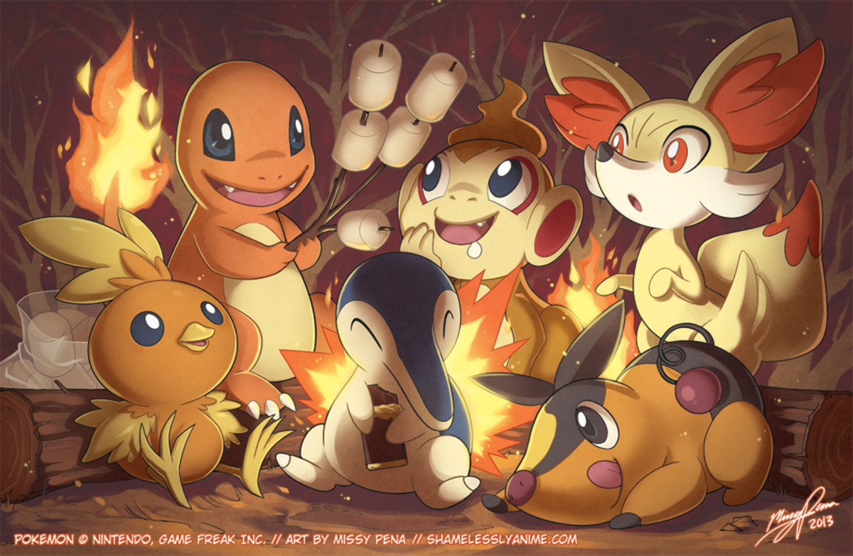 Top 6 Fire Starters in Pokemon