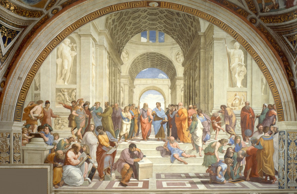 An Italian Renaissance painting by Raphael: The School of Athens.