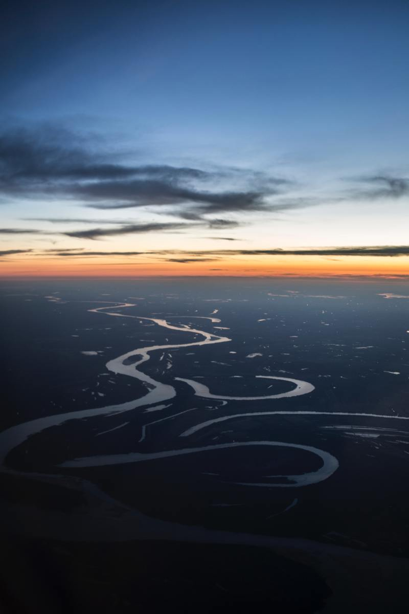 The Mississippi River drains a vast area