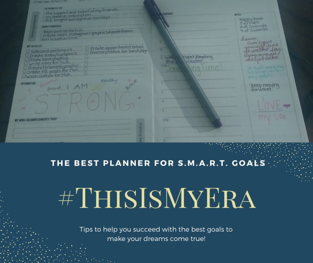 My favorite planner for creating and maintaining goals is the #ThisIsMyEra planner. While others get the job done, this one guides you through the process of productivity!