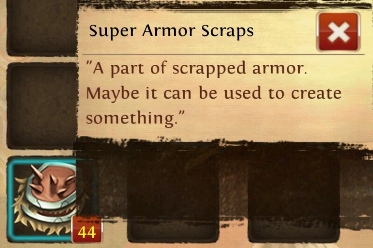 """Super Armor Scraps in """"OAC Online."""""""