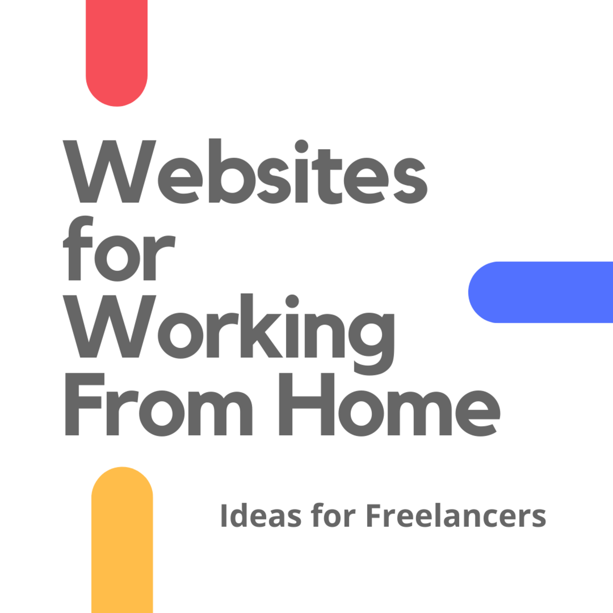 Discover four websites that provide opportunities for freelancers working from home.