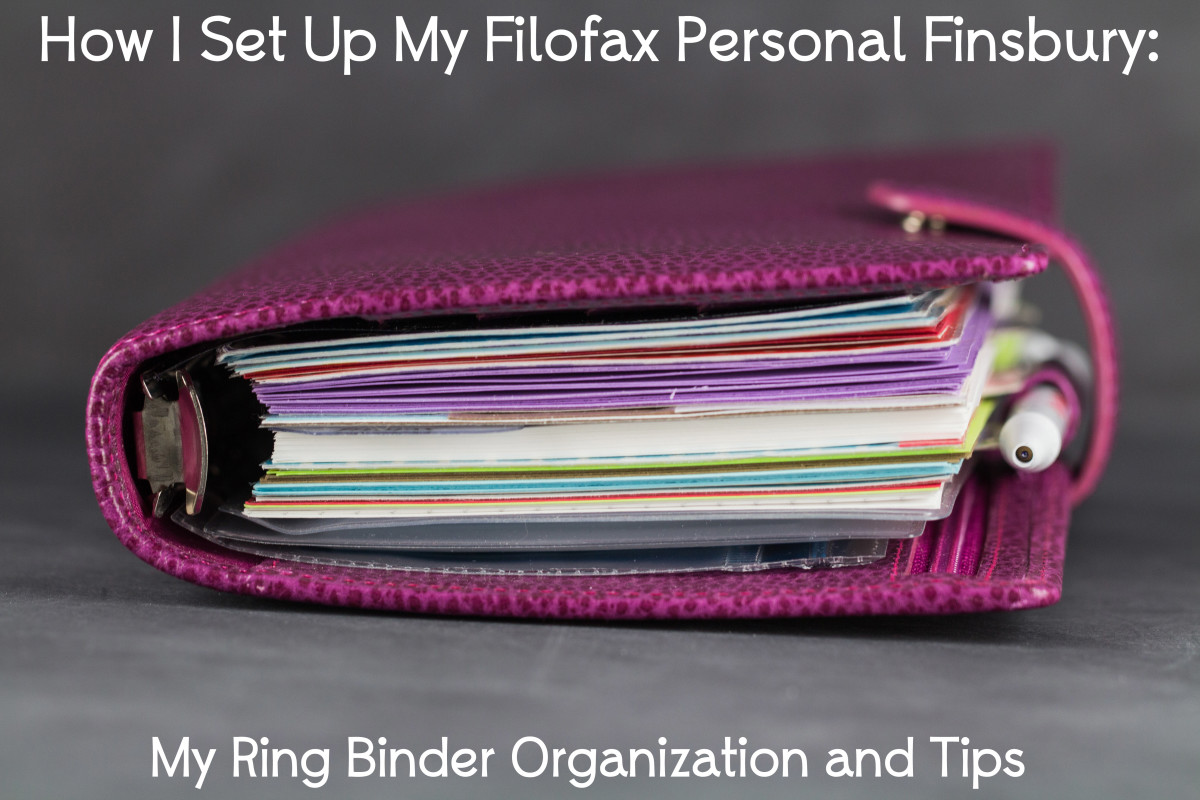 How I Set Up My Filofax Personal Finsbury : My Ring Binder Organization and Tips