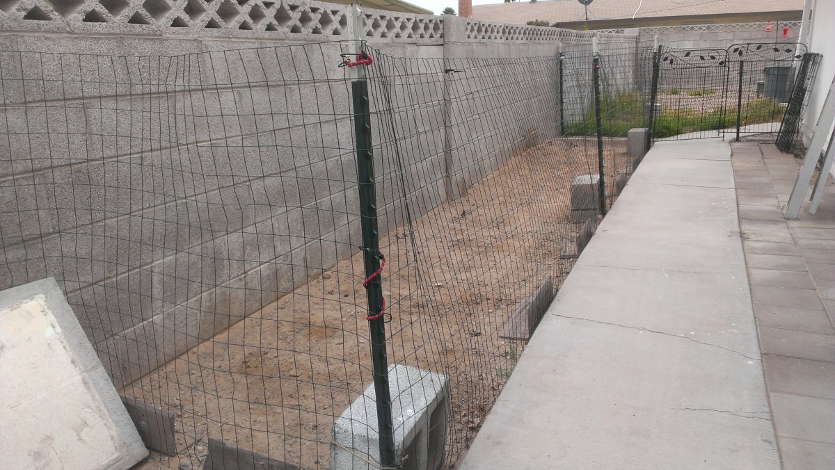 This dog run was put together in under an hour, but has saved countless hours in clean up.