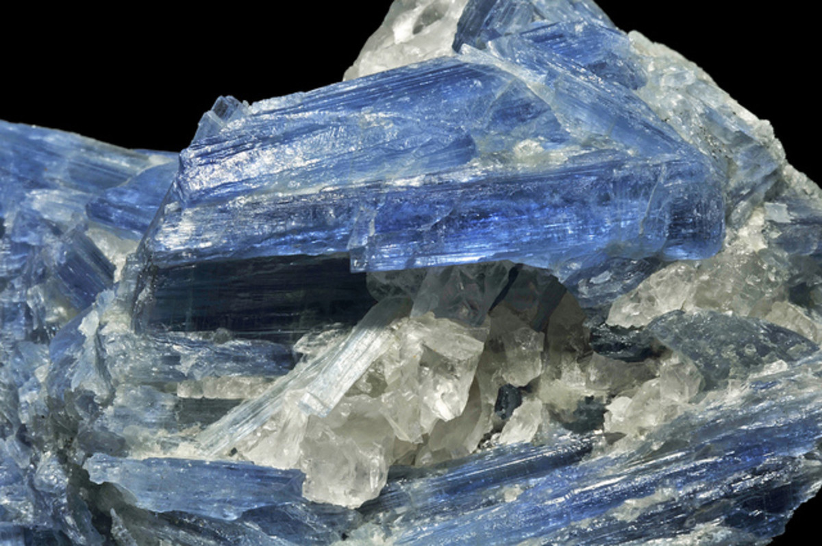 Kyanite can be used to relieve stress and frustration.