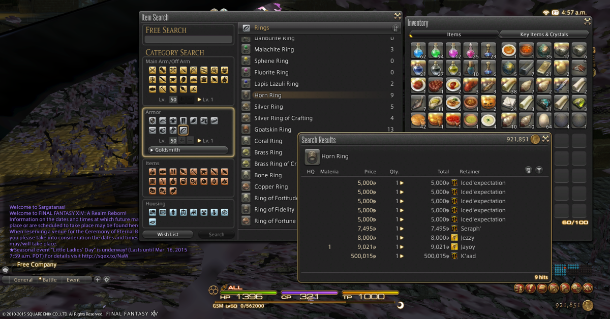 FFXIV: A Guide to Making Gil in Final Fantasy A Realm Reborn   LevelSkip