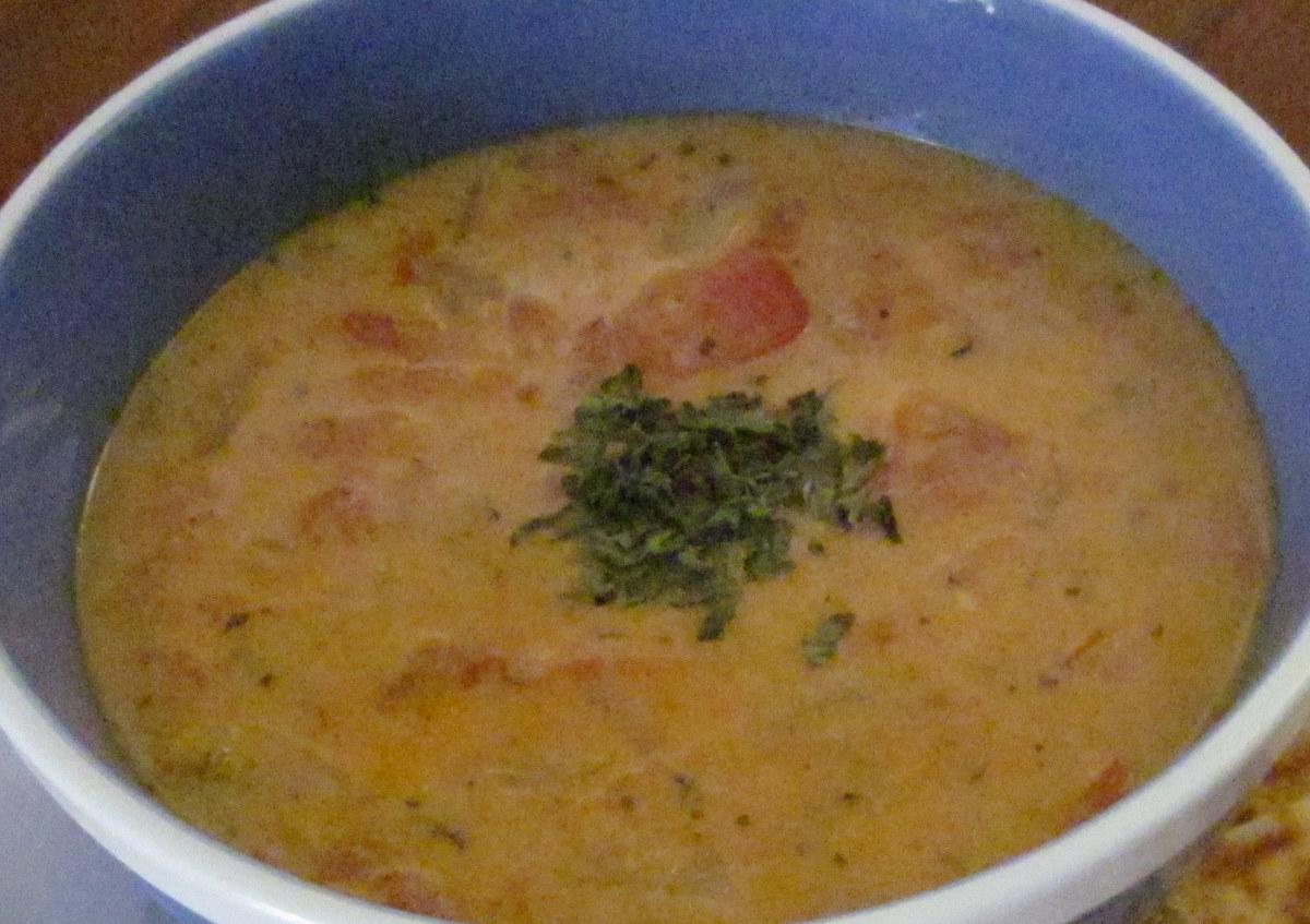 Cilantro-tomato soup