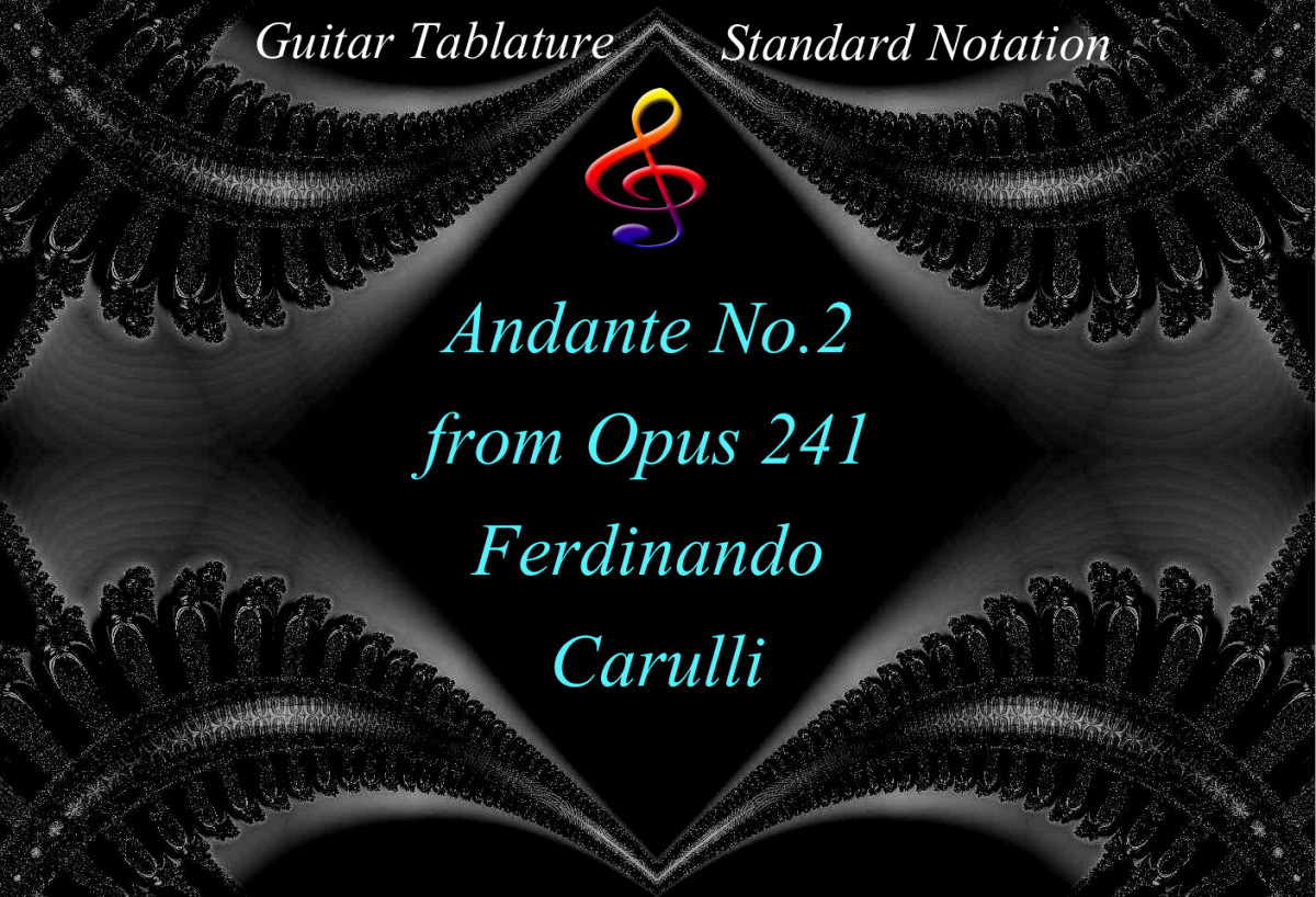 Carulli: Opus 241 Andante No.2 - Guitar Tab & Notation