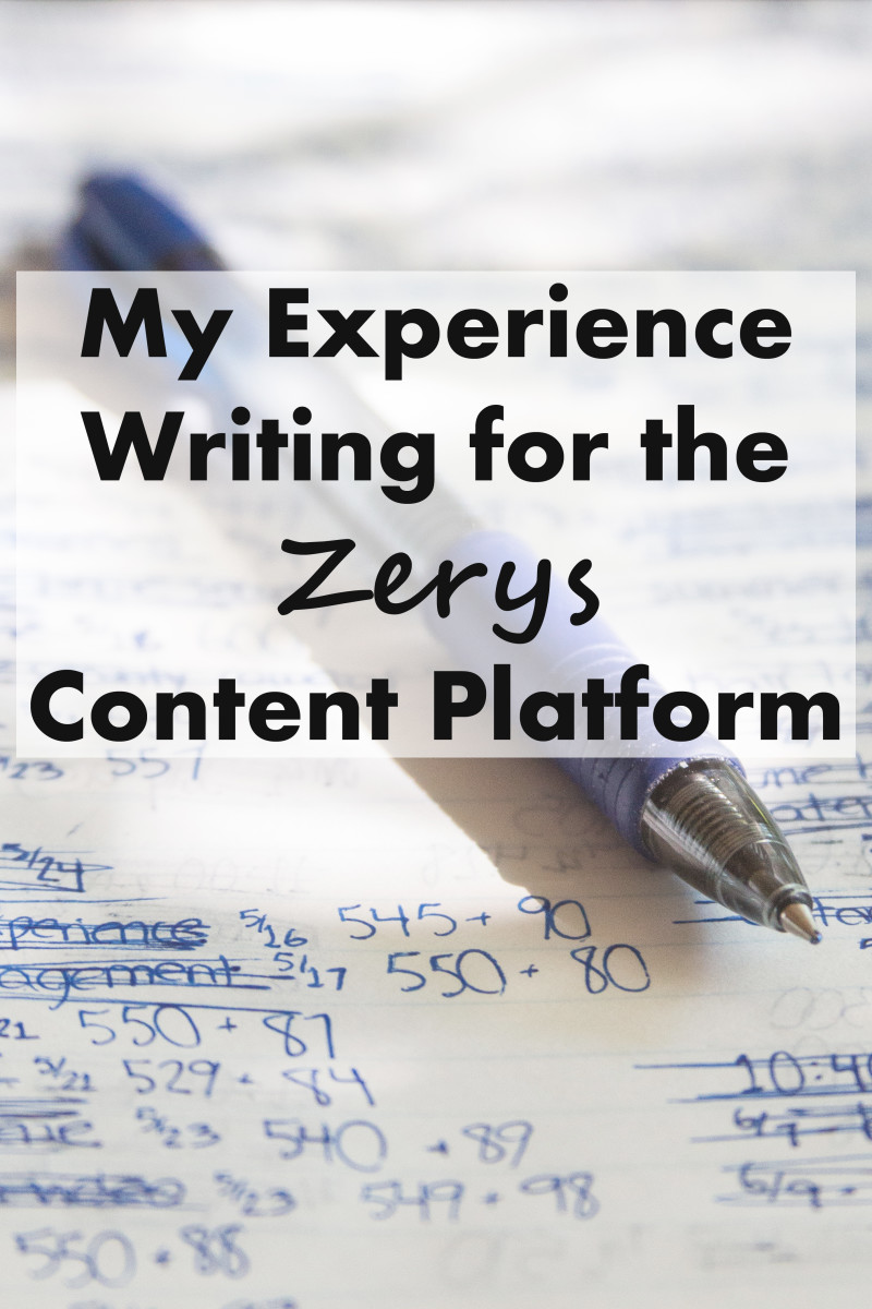 My Experience Writing for the Zerys Content Platform