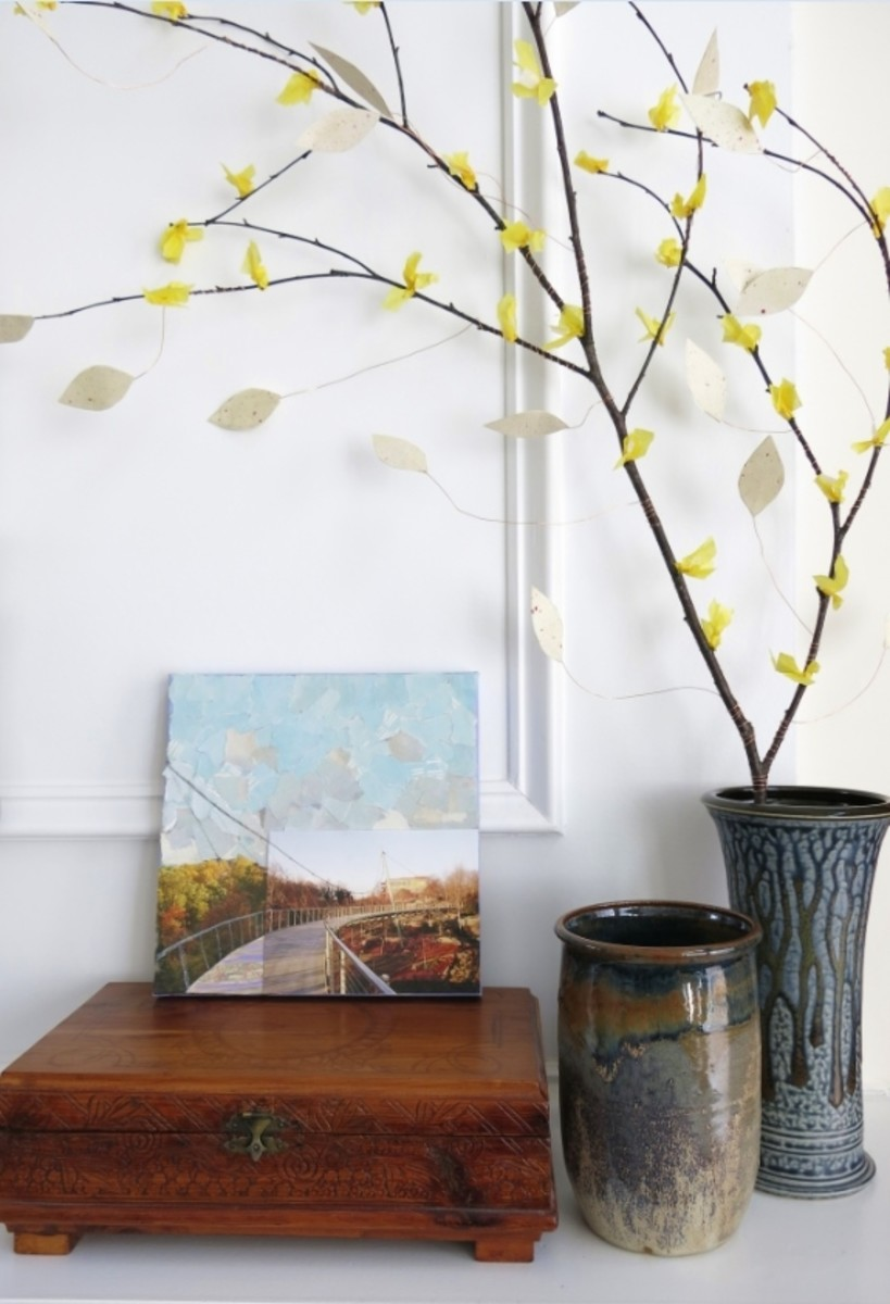 DIY Craft Tutorial: How to Make a Decorative Branch With Paper ...
